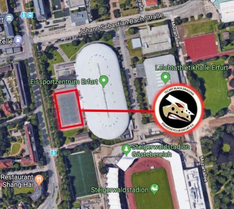 Karte Eishalle Erfurt