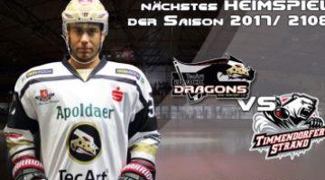 Tec Art Black Dragons Gegen Timmendorf Und Den Ecc Preussen Gefordert