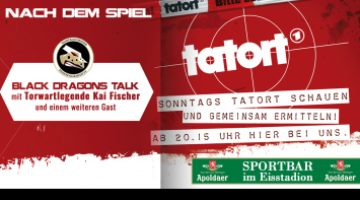 Black Dragons Talk Mit Torwartlegende Kai Fischer Und Tatort In Der Sportbar